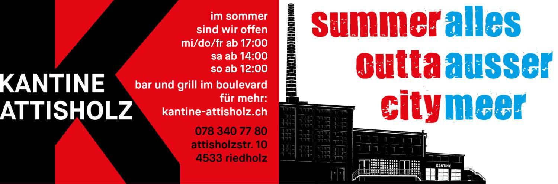 KANTINE ATTISHOLZ - Sommer, Sonne, Sommerbar - Die neuen Öffnungszeiten - Do / Fr jeweils ab 16 Uhr - Sa / So jeweils ab 14 Uhr - Wir freuen uns auf euch.